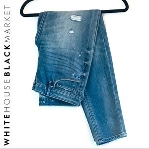 WHBM Distressed Girlfriend Jeans